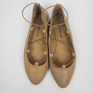 Lucky Brand LK Aviee Lace up Ballet Shoes